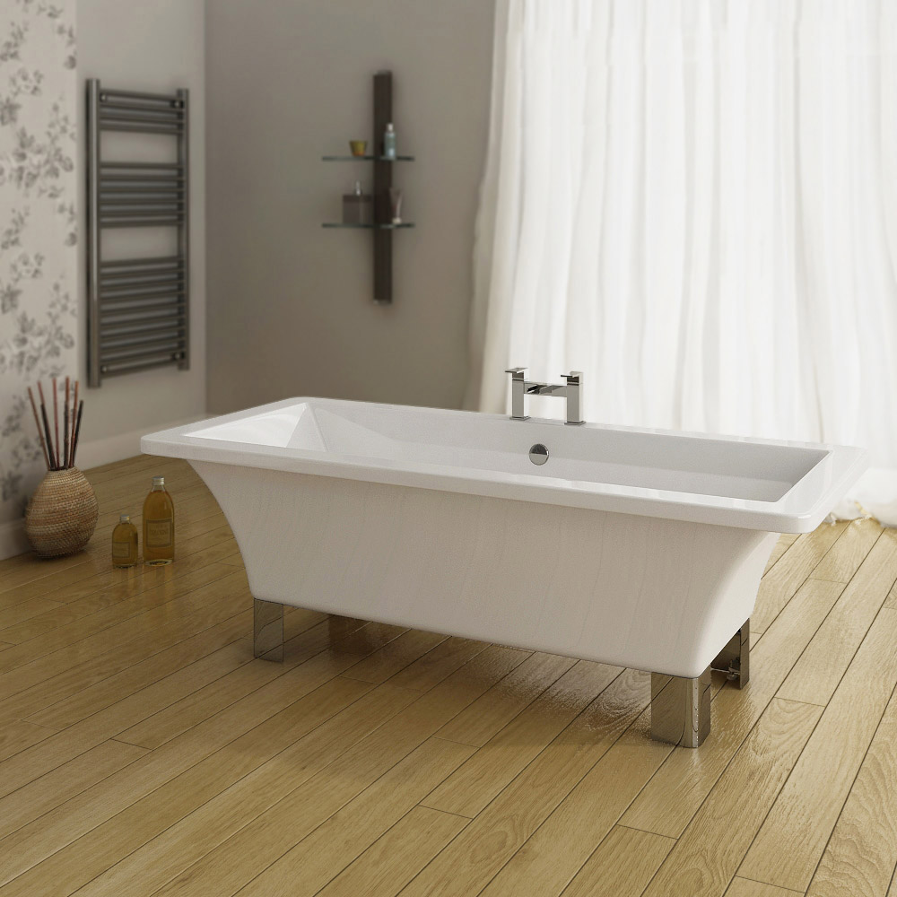 Milan 1520 Modern Square Roll Top Bath Victorian