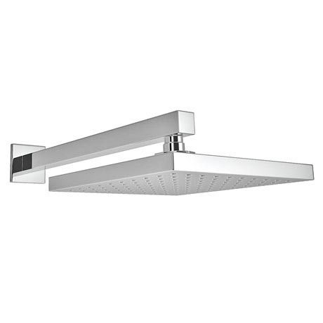 Milan 200 x 200mm Fixed Square Shower Head with Wall Mounted Arm