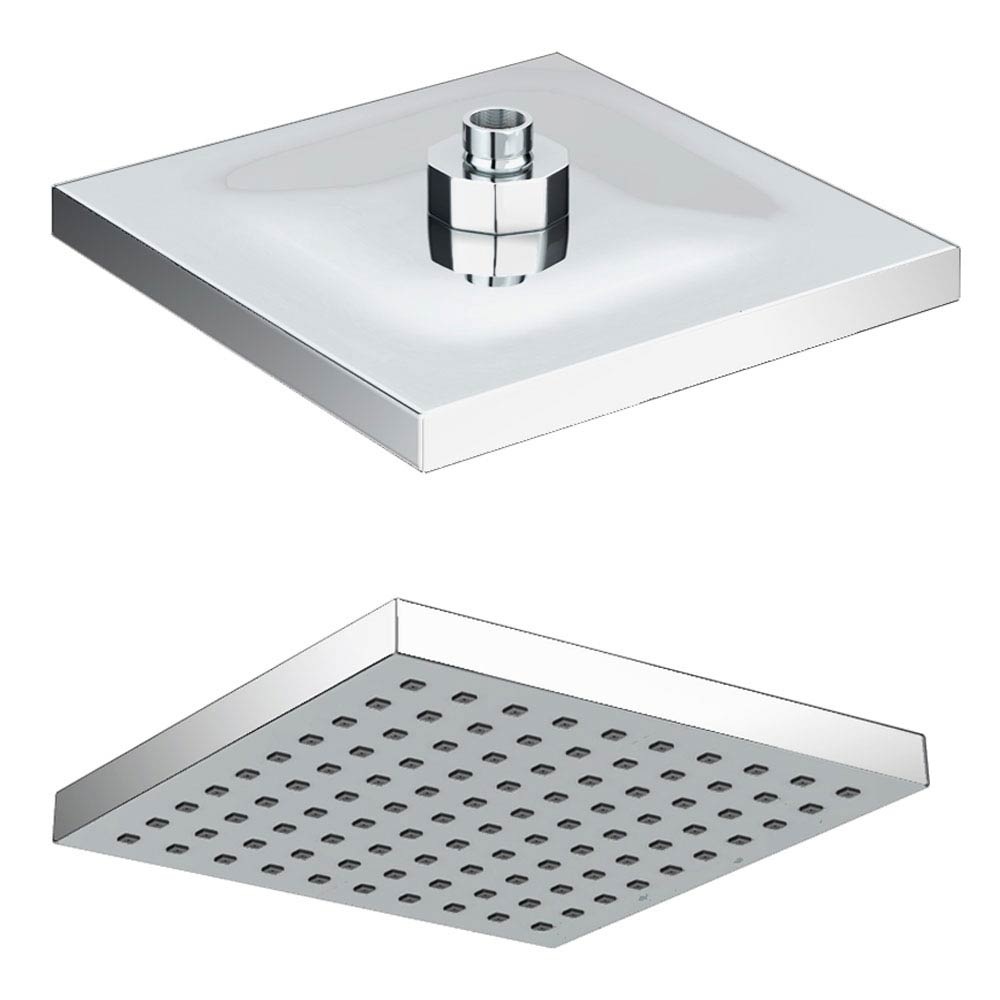 Milan 200 x 200mm Square Shower Head with Swivel Joint Large Image