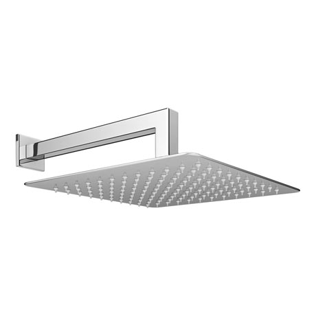Milan 300x300mm Ultra Thin Square Shower Head + 90 Degree Bend Arm