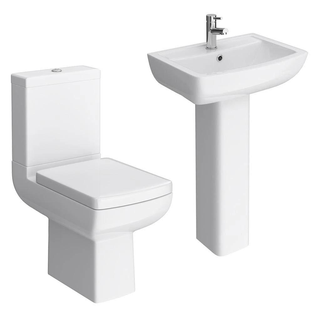 Milan 4-Piece Modern Bathroom Suite profile large image view 1