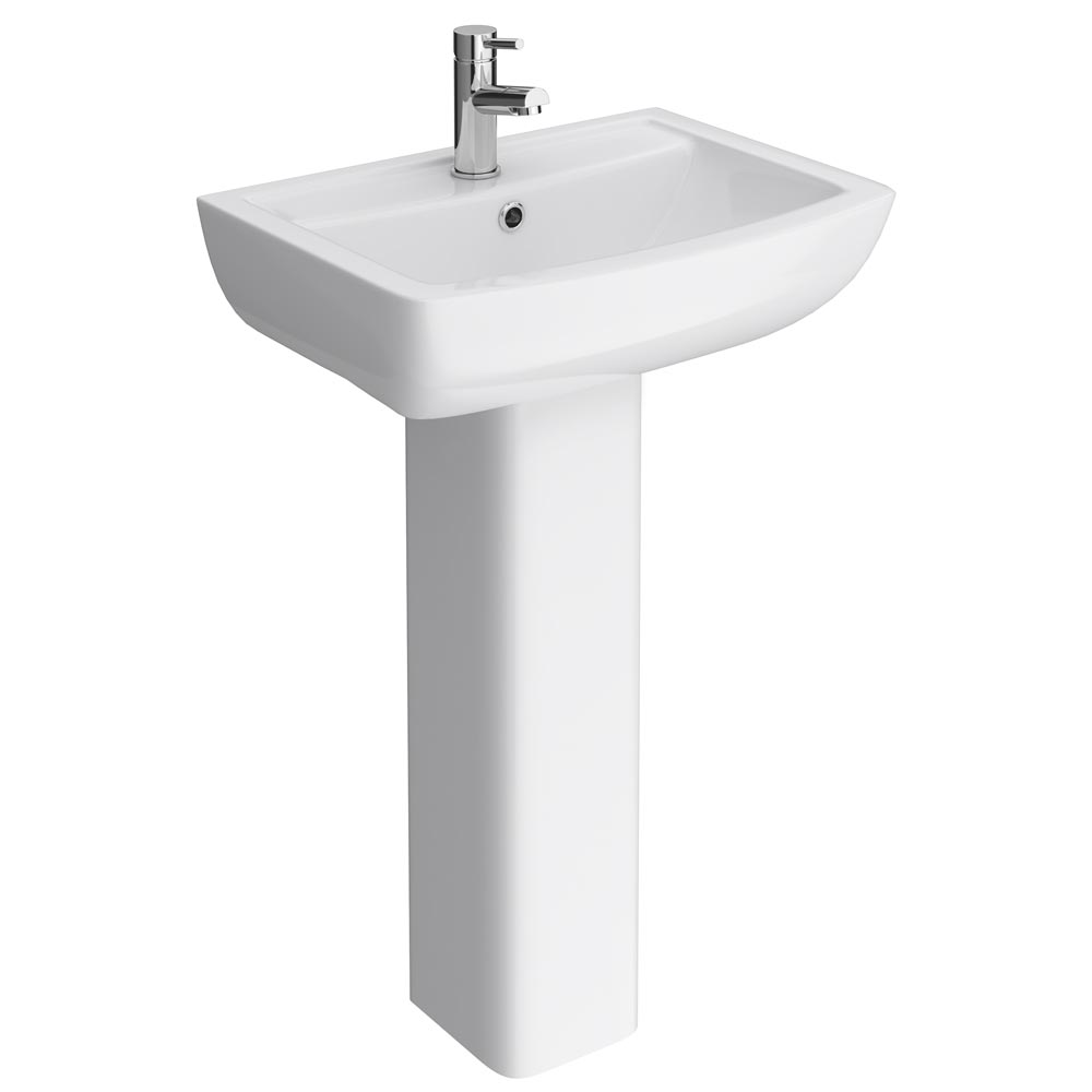 Milan Basin with Full Pedestal (550mm Wide - 1 Tap Hole) Large Image