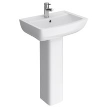 Milan Basin with Full Pedestal (550mm Wide - 1 Tap Hole) Medium Image