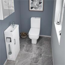 Milan Compact Complete Cloakroom Suite (Toilet & Vanity Unit) Medium Image