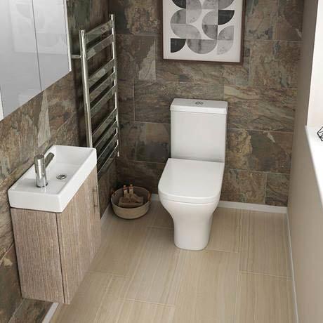 Milan Compact Wall Hung Basin Unit   Light Oak   Available ...