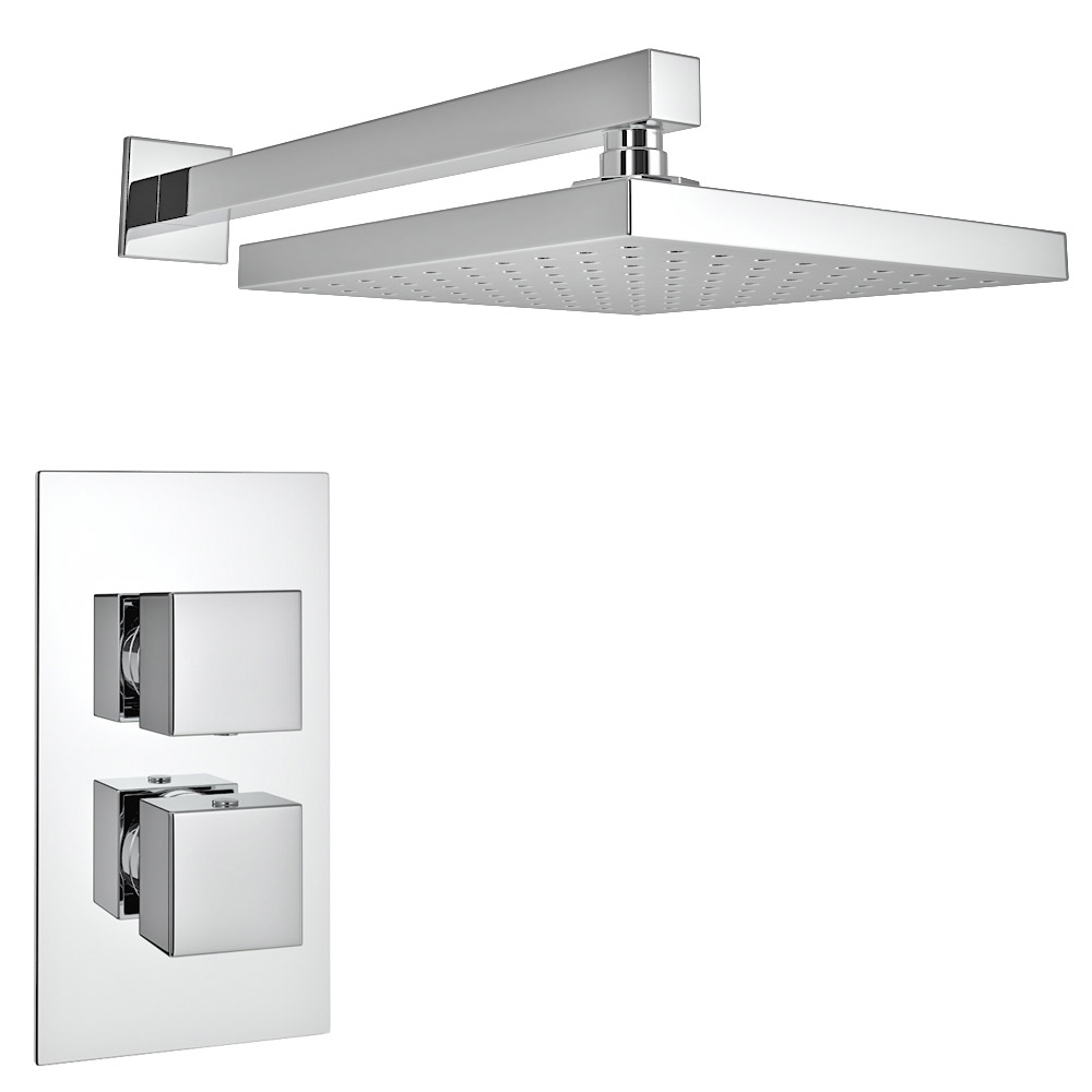 Milan Square Shower Package with Concealed Valve + Head profile large image view 2