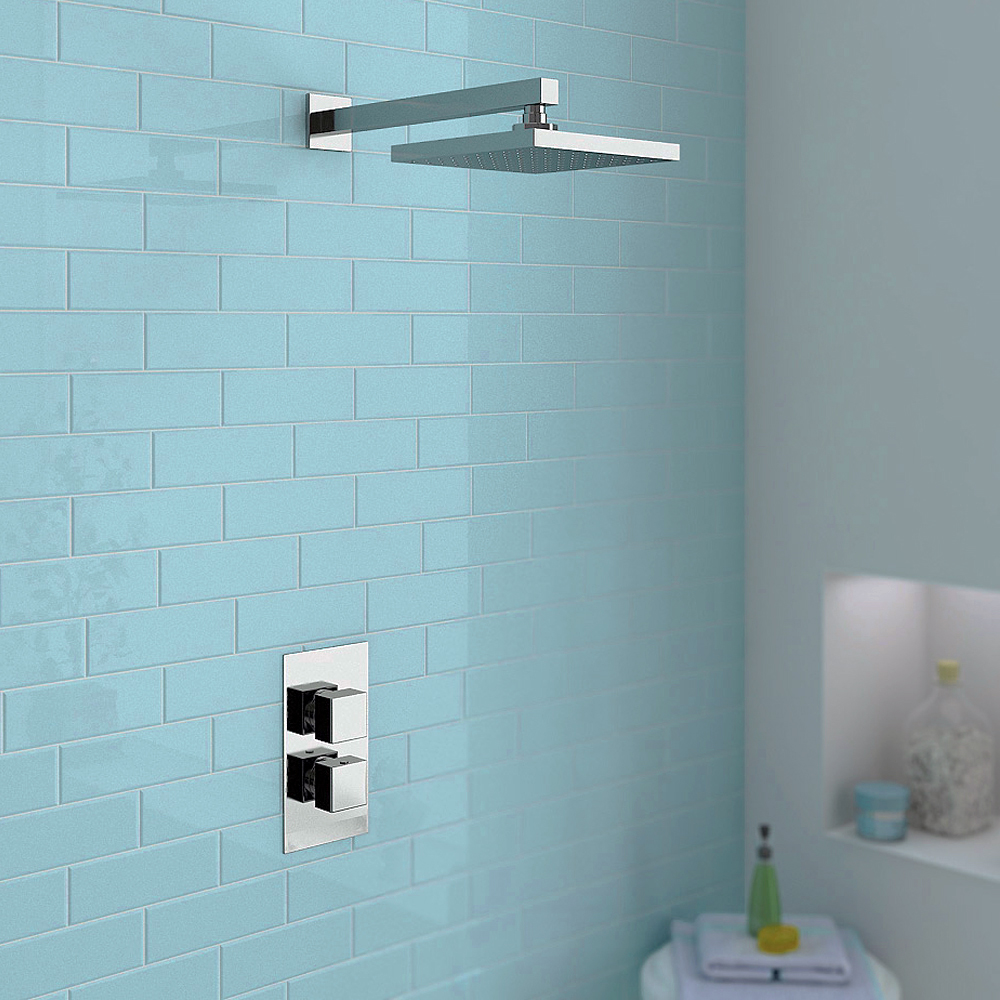milan concealed shower valve with wall mounted fixed