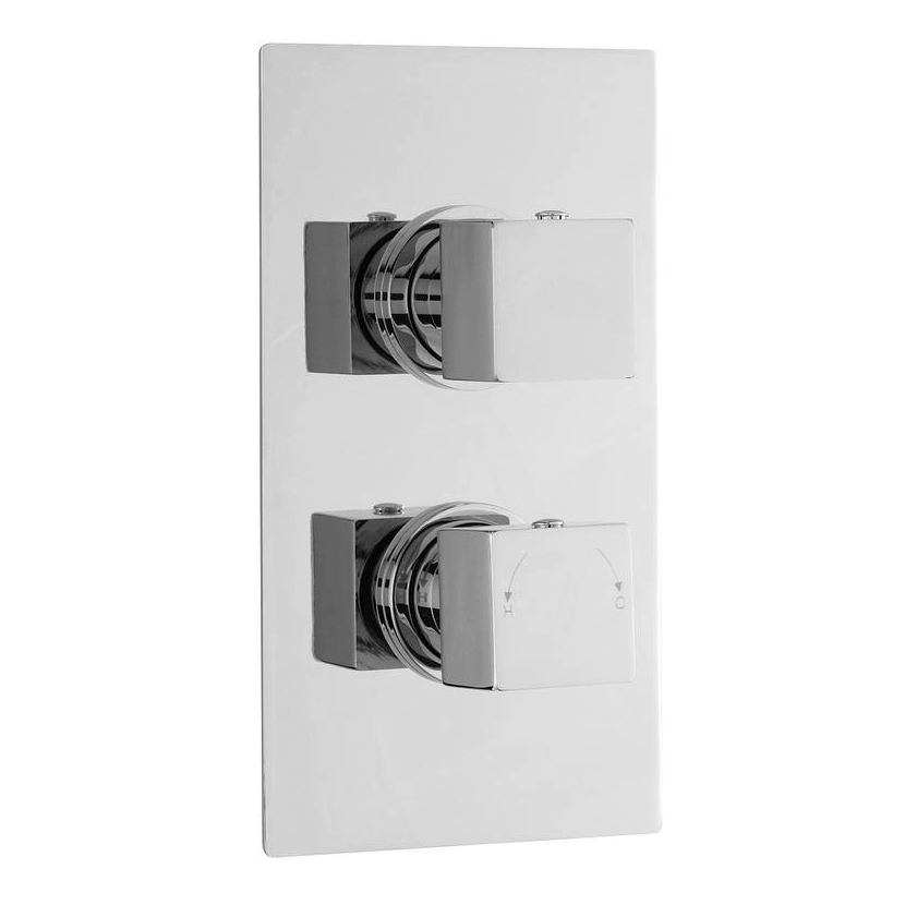 Milan Concealed Thermostatic Valve with Diverter, Fixed Shower Head & 4 Body Jets Standard Large Image