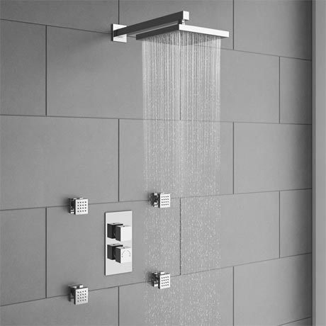 Milan Concealed Thermostatic Valve With Diverter Head 4