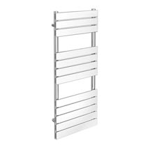 Milan Heated Towel Rail 1200mm x 490mm Chrome Medium Image