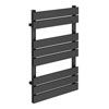 Milan Heated Towel Rail 800mm x 490mm Anthracite Medium Image