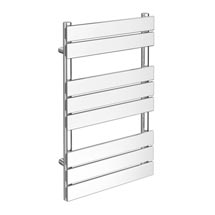 Milan Heated Towel Rail 800mm x 490mm Chrome Medium Image