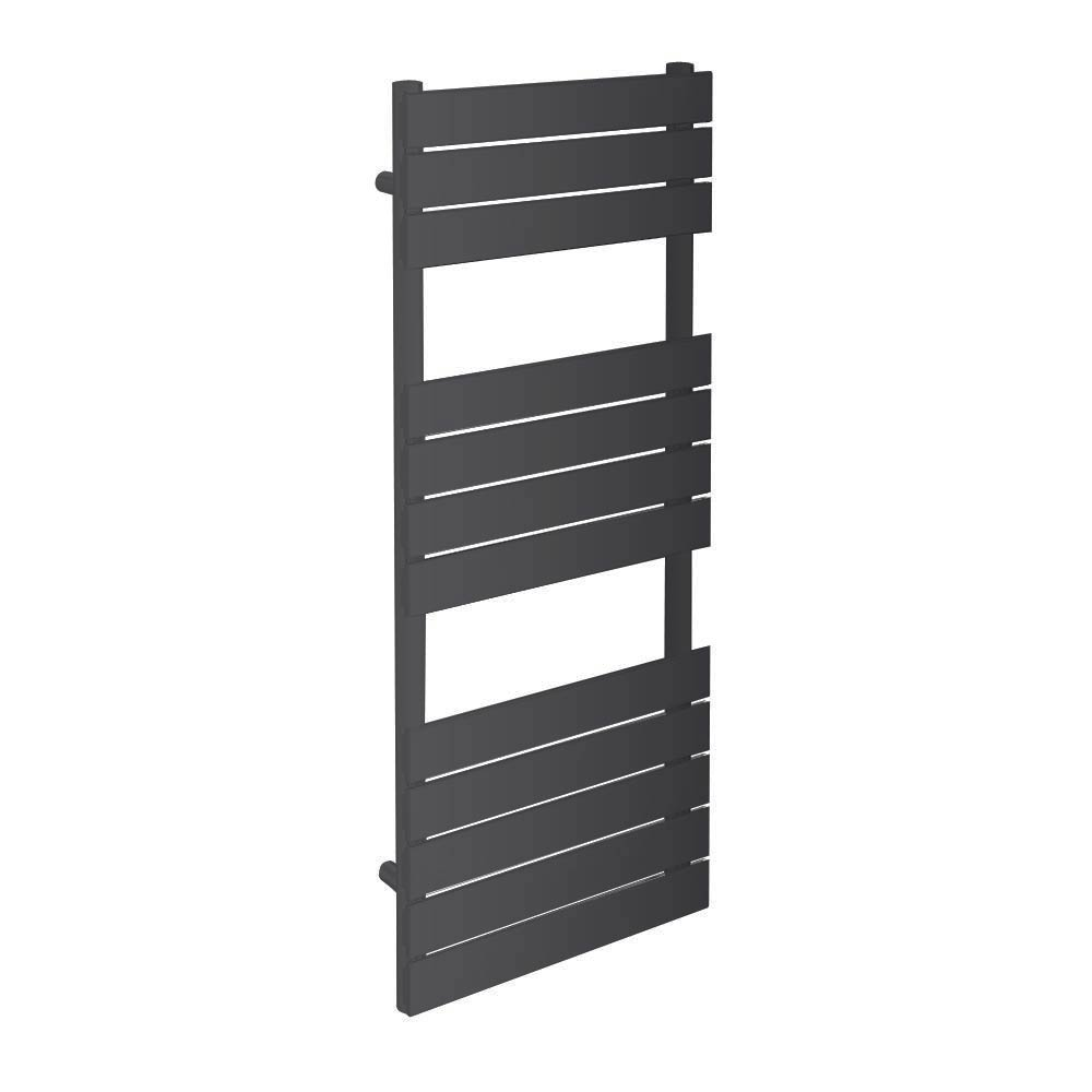 Milan Heated Towel Rail H1200mm x W490mm Anthracite profile large image view 1