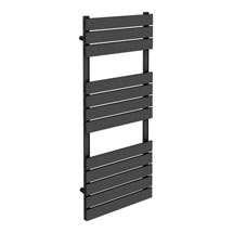 Milan Heated Towel Rail H1200mm x W490mm Anthracite Medium Image