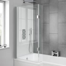 Milan Hinged L-Shaped Bath Screen Medium Image