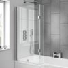 Milan Hinged L-Shaped Bath Screen profile small image view 1