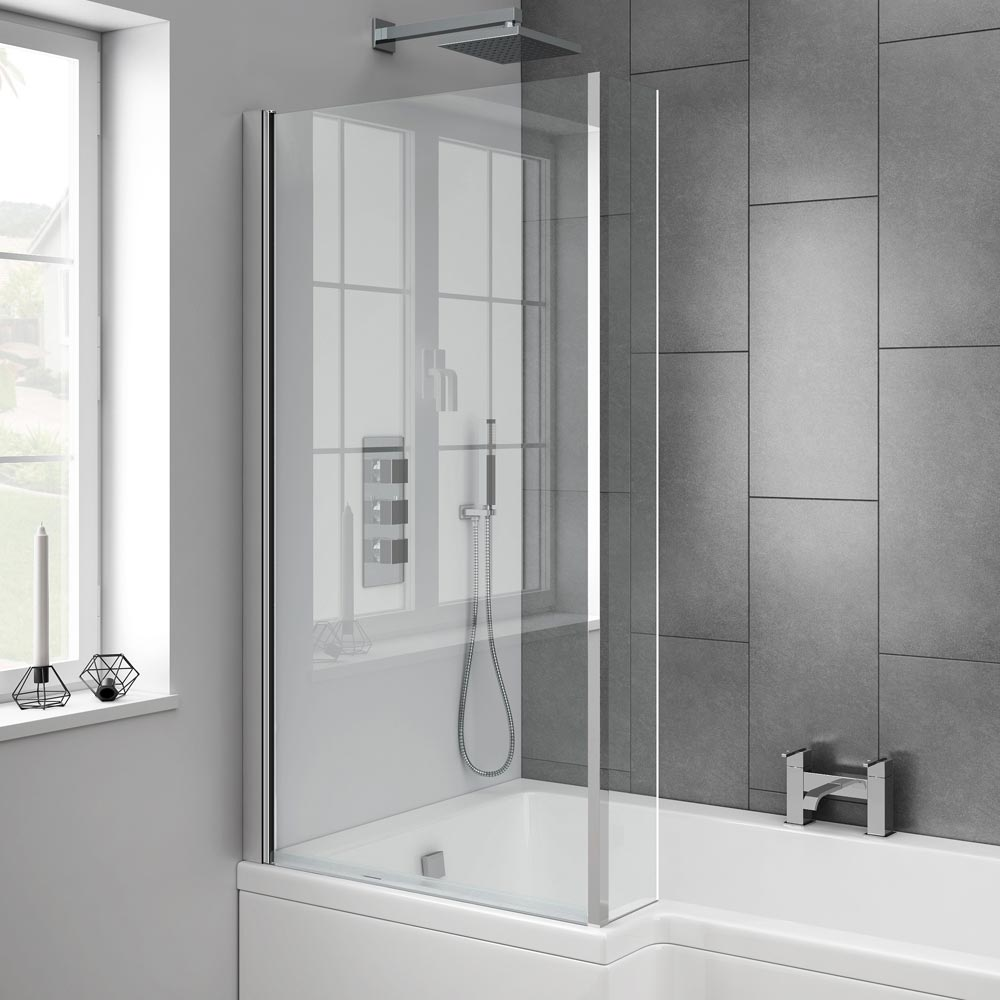 Milan L-Shaped Fixed Bath Screen Profile Large Image