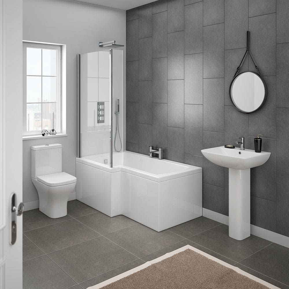 Milan Modern Shower Bath Suite Online At Victorian