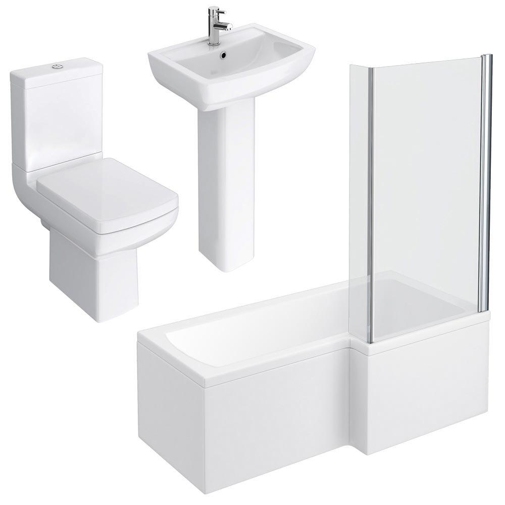 Milan Modern Shower Bath Suite Feature Large Image