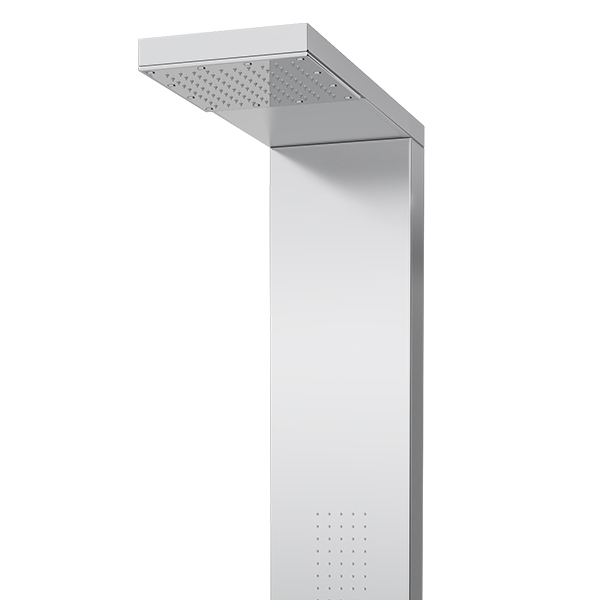 Milan Modern Stainless Steel Tower Shower Panel (Thermostatic) Profile Large Image