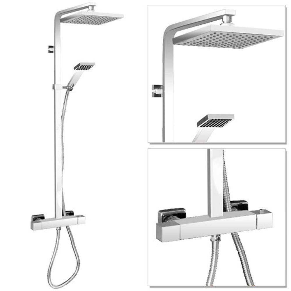 Milan Modern Thermostatic Shower - Chrome  Profile Large Image