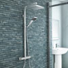 Milan Modern Thermostatic Shower - Chrome Medium Image