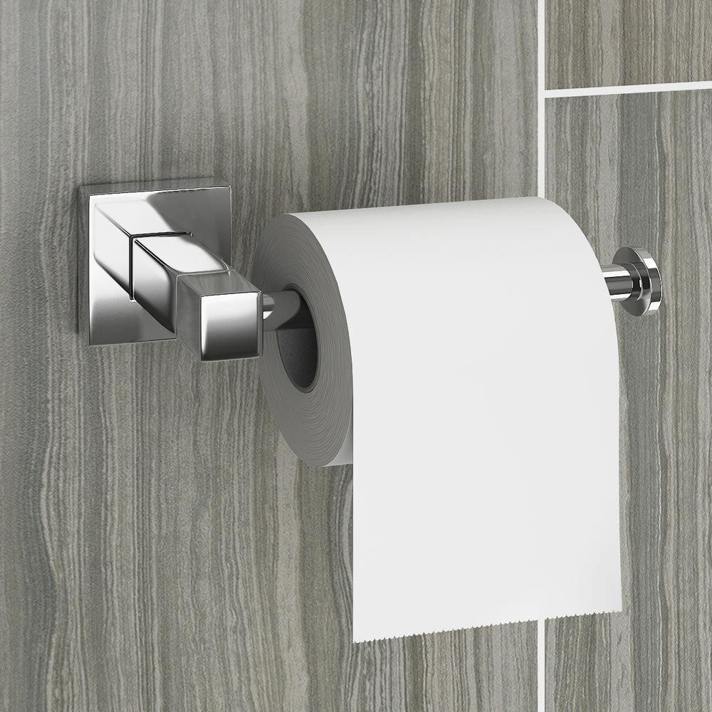 Milan Modern Toilet Roll Holder profile large image view 2