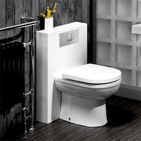 Milan Polymarble Back To Wall WC Unit + Cistern