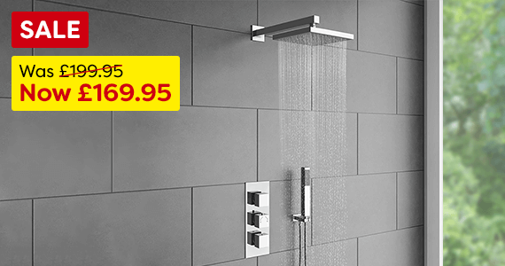Milan Triple Thermostatic Shower
