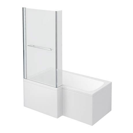 Milan Shower Bath - 1500mm L Shaped Inc. Screen with Rail + Panel