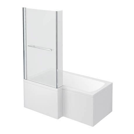 Milan Shower Bath - 1500mm L Shaped Inc. Screen with Rail + Panel