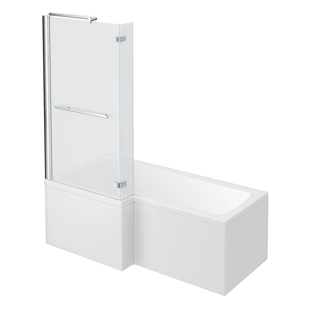 Milan L Shaped Shower Bath