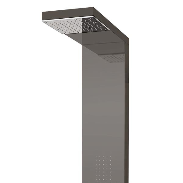 Milan Shower Tower Panel - Dark Chrome (Thermostatic) Feature Large Image