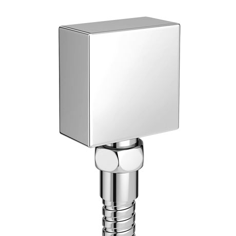 Milan Square Elbow for Concealed Showers - Chrome