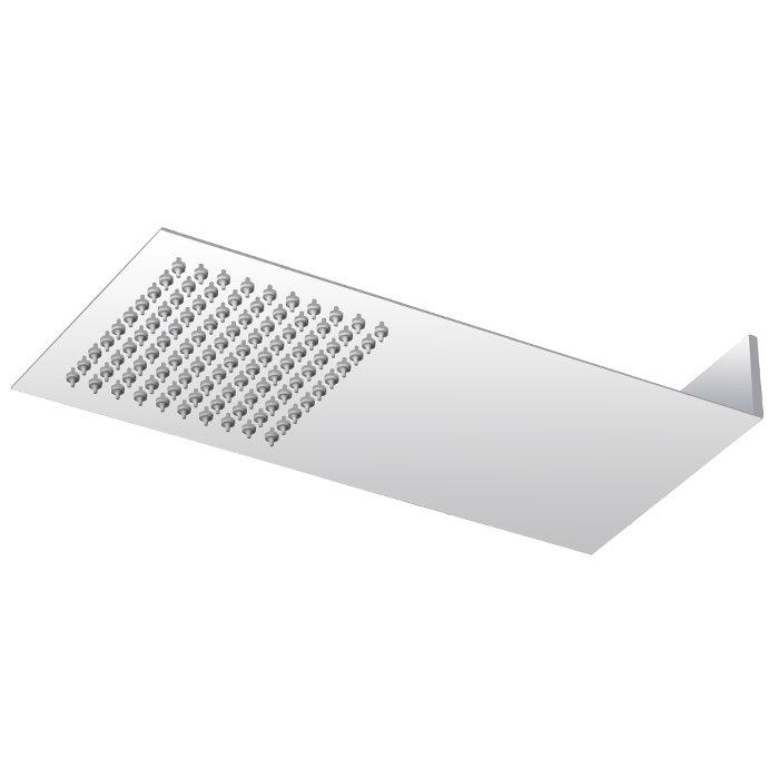 Milan Square Flat Fixed Shower Head (220 x 500mm)