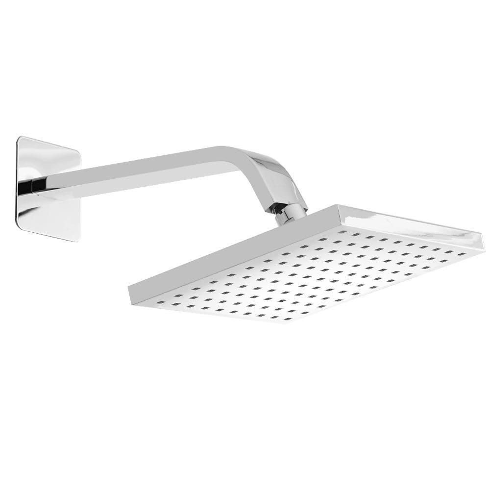 Milan Square Shower Head + Designer Arm (200x200mm) Large Image