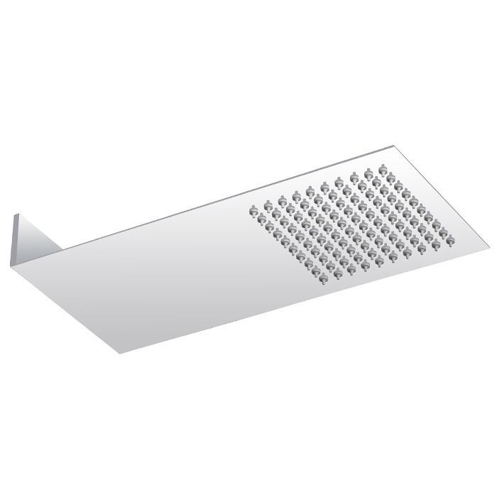 Milan Square Shower Package with Concealed Valve & Flat Fixed Shower Head profile large image view 3