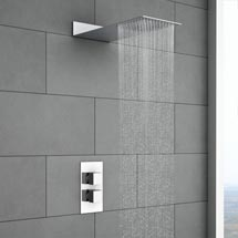 Milan Square Shower Package with Concealed Valve & Flat Fixed Shower Head Medium Image