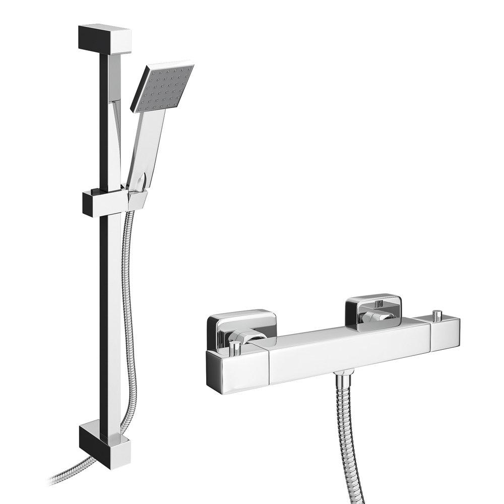 Milan Bar Shower Package with Modern Slider Handset Kit Large Image