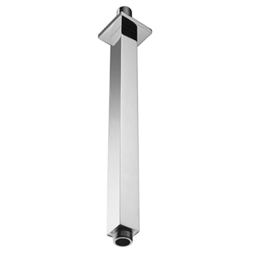 Milan Square Vertical Shower Arm 300mm - Chrome Large Image