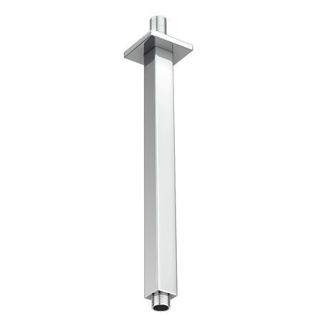 Milan Square Vertical Shower Arm 300mm - Chrome