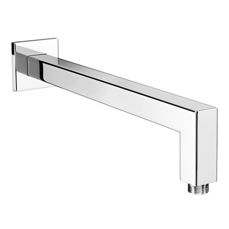 Milan Square Wall Mounted 90 Degree Bend Shower Arm 393mm - Chrome