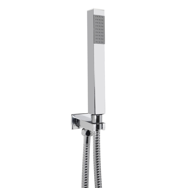 Ultra Series L Triple Thermostatic Valve with Square Shower Head + Handset profile large image view 3