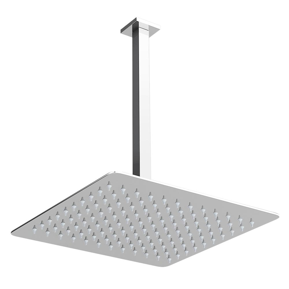 Milan Twin Concealed Shower Valve Inc. Ultra Thin Head with Vertical Arm Feature Large Image