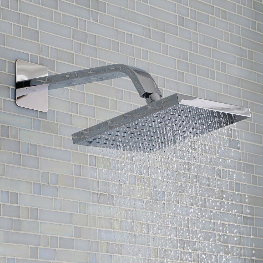 Milan Square Shower Head + Designer Arm (200x200mm) profile large image view 2