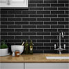 Mileto Black Gloss Ceramic Wall Tile - 75 x 300mm Small Image