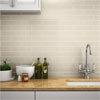 Mileto Brick Bone Gloss Ceramic Wall Tile - 75 x 300mm Small Image
