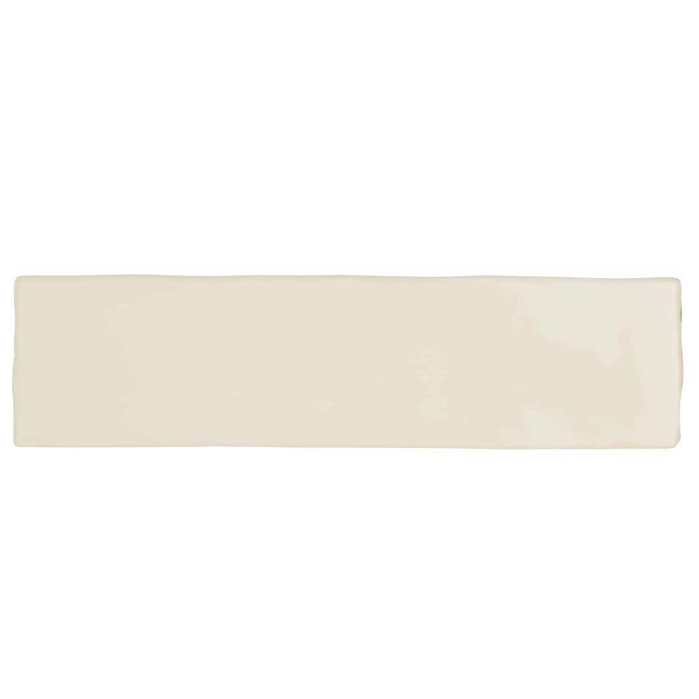 Mileto Brick Bone Gloss Porcelain Wall Tile - 75 x 300mm  Profile Large Image