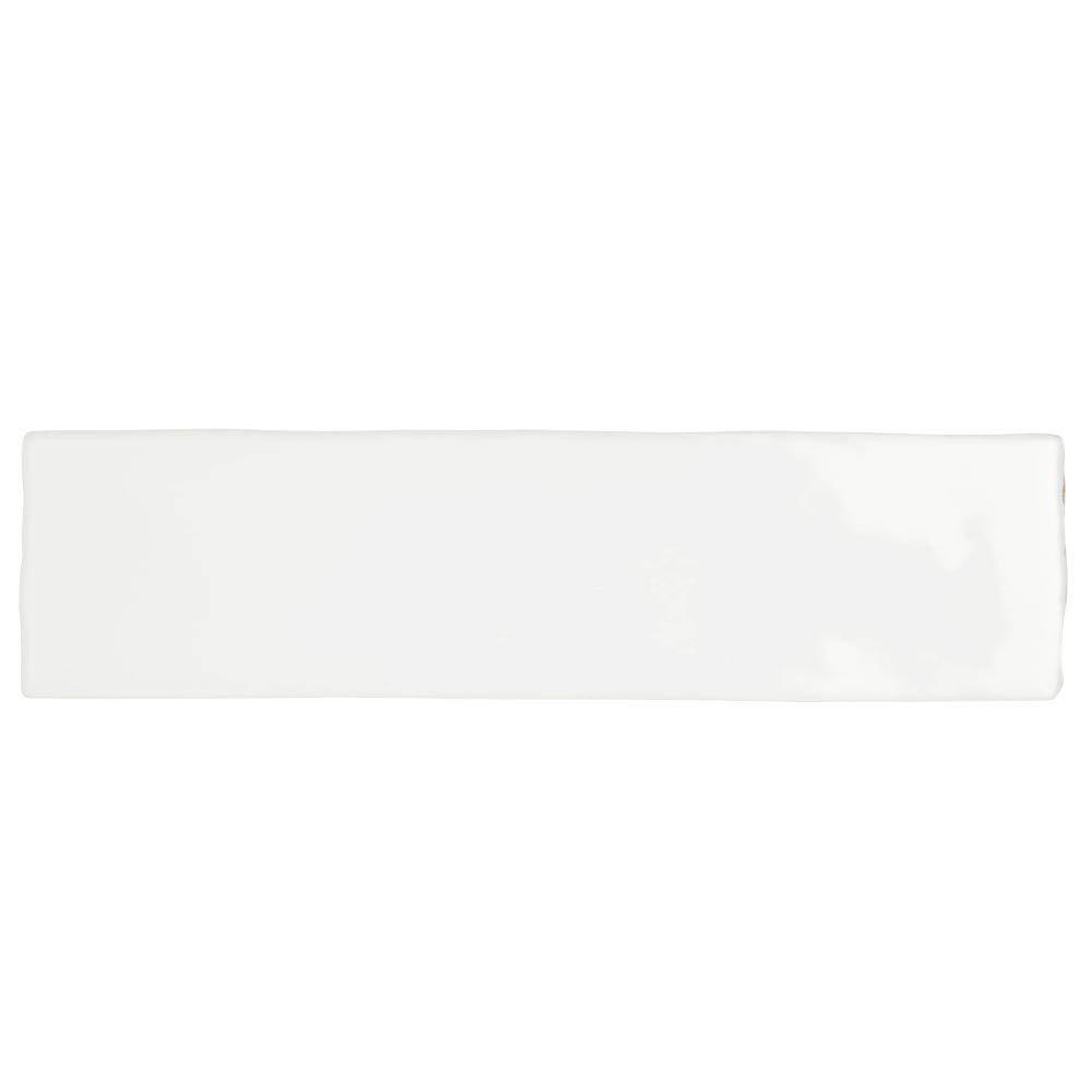 Mileto Brick White Gloss Porcelain Wall Tile - 75 x 300mm  Feature Large Image