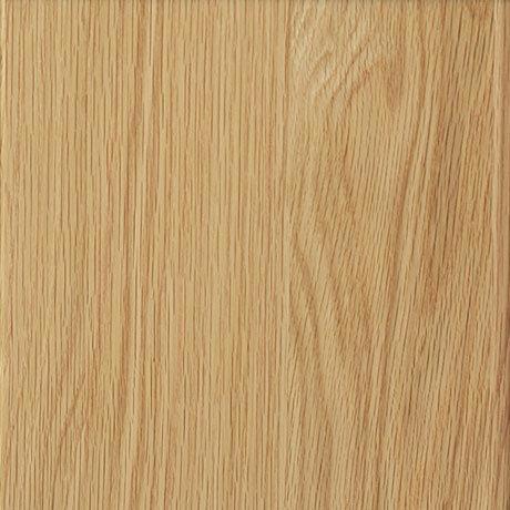 Miller - Nova 40 Wall Hung Single Door Vanity Unit with Ceramic Basin - Oak profile large image view 3